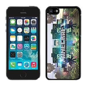iPhone 5C Case,Minecraft 3 Black For iPhone 5C Case