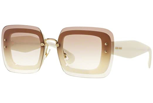 Miu Miu 02RS 7S31L0 Ivory 02RS Square Sunglasses Lens Category 1 ... e0978220abe63