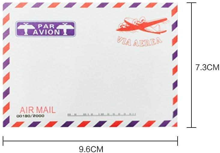 Set per spedire Biglietti dauguri da Viaggio Kraft 100 Buste ispirate alla Posta Aerea Kraft con Motivi in Stile retr/ò Sunnysam Buste per bigliettini o Regali