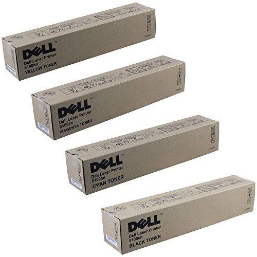 Dell 5100cn Standard Yield Toner Cartridge Set (Dell 5100cn Black Toner)