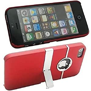 Plating Pc Case with Stand for iPhone 5/5S , Blue