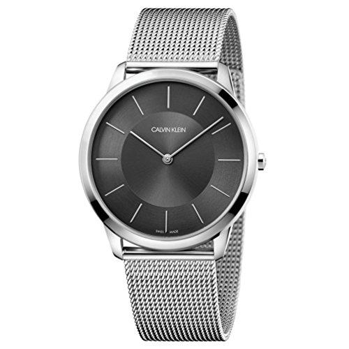 Calvin Klein watch CK Minimal K3M2T124 Dark grey dial