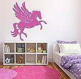 Wall Decal Sticker Bedroom Unicorn Pegasus Magic Horse Dream Cartoon Kids Girls Nursery Boys Teenager Room 750b