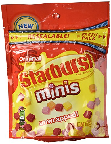 Starburst, Original Minis Candy, 8oz Bag (Pack of 2) ()