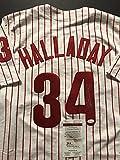 Autographed/Signed Roy Halladay Philadelphia Phillies Pinstripe Baseball Jersey JSA COA