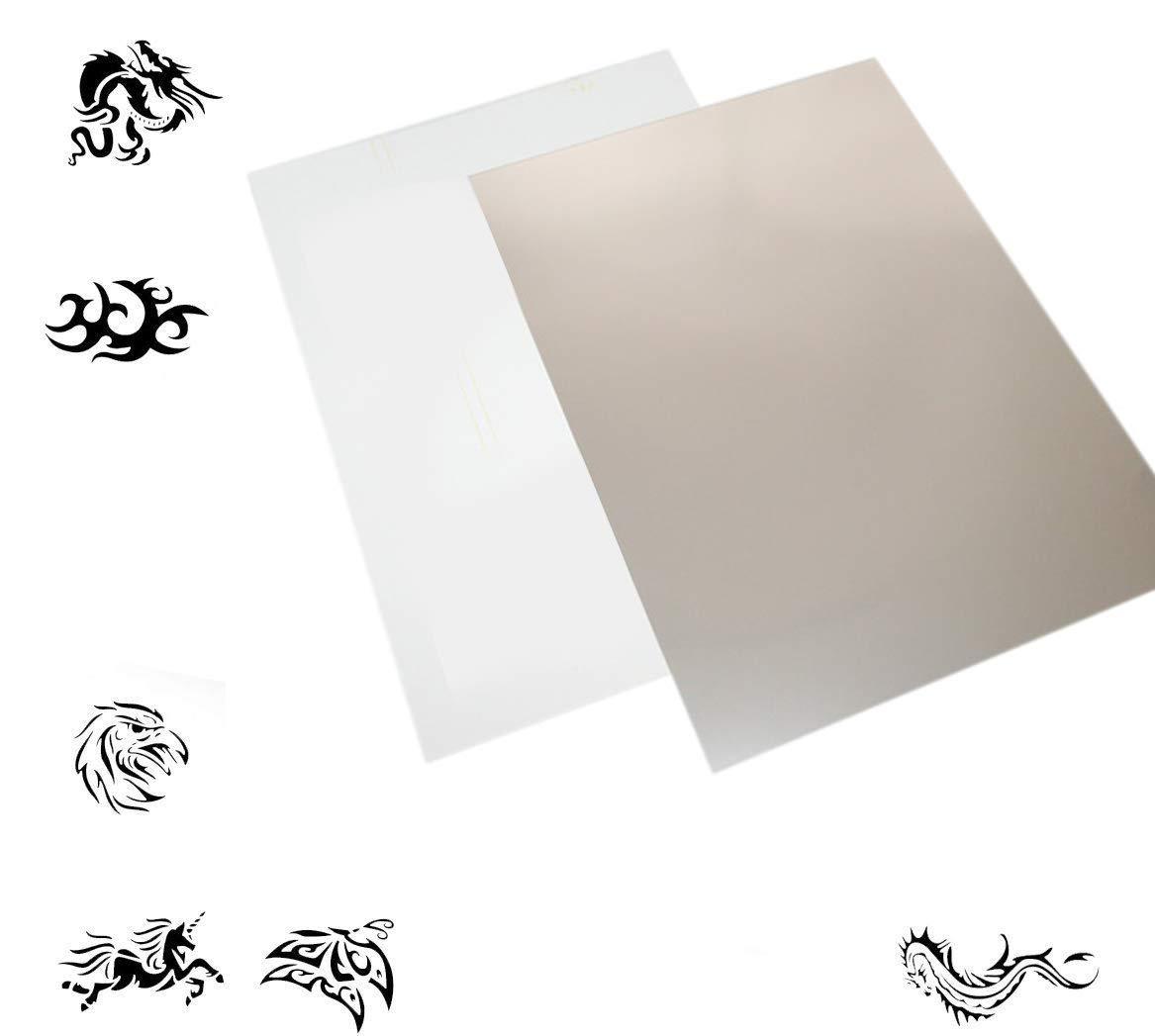 Mylar Stencil Material Pack of 50 A4 Mylar Film + 51 Digital Graphics VEDA