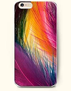 Colorful Feathers - Rainbow Color Series - Phone Cover for Apple iPhone 6 Plus ( 5.5 inches ) - SevenArc Authentic...