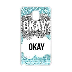 wugdiy New Fashion Cover Case for Samsung Galaxy Note 4 with custom Okay Okay