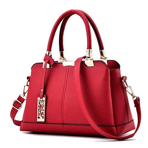 4 Borsa mano quadrato blu di a pelle Colore a a in a piccola A tracolla Borsa in forma mano PU Handbag Borsa 1Aqd8U1