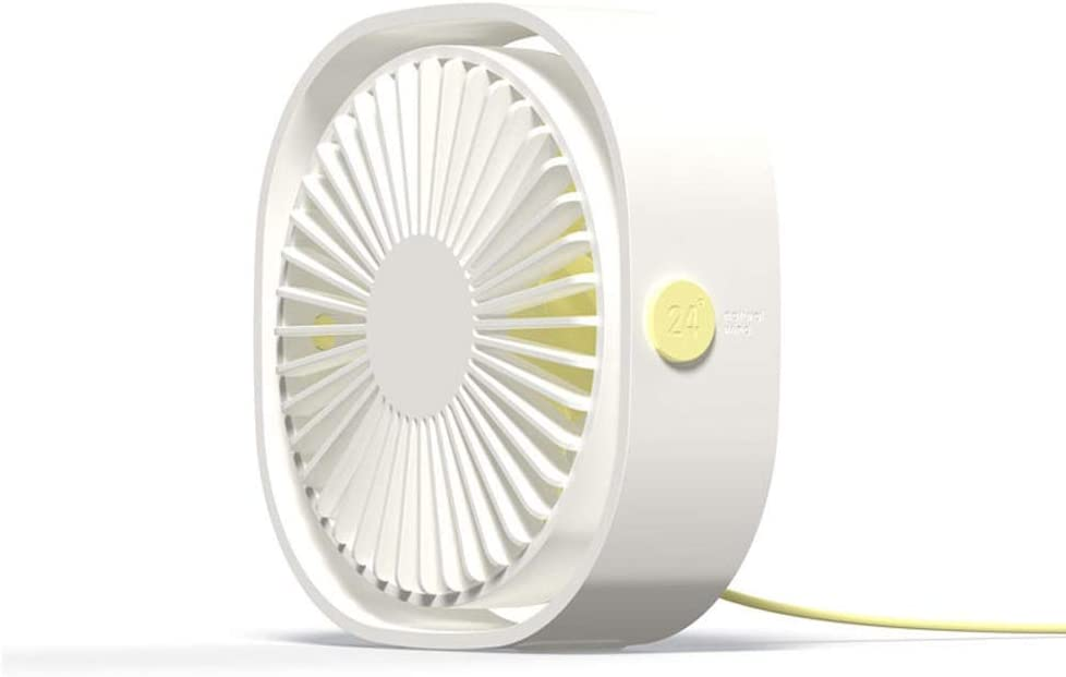 ElevenY 360/° Mini Cooling Fan Portable USB Desktop Fan 3 Speed for Office Cooling Fan Car Home and Travel Boys Girls Adults Summer Artifact Color : White