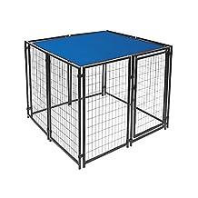 ALEKO® 5 x 10 Feet Dog Kennel Shade Cover w/ Aluminum Grommets, Blue