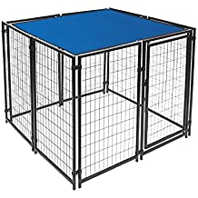 ALEKO 6 x 12 Feet Dog Kennel Shade Cover w/ Aluminum Grommets, Blue