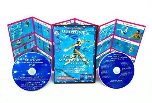 WaterGym Weight Loss & Strengthening Water Aerobics DVD / Music CD / Waterproof Card