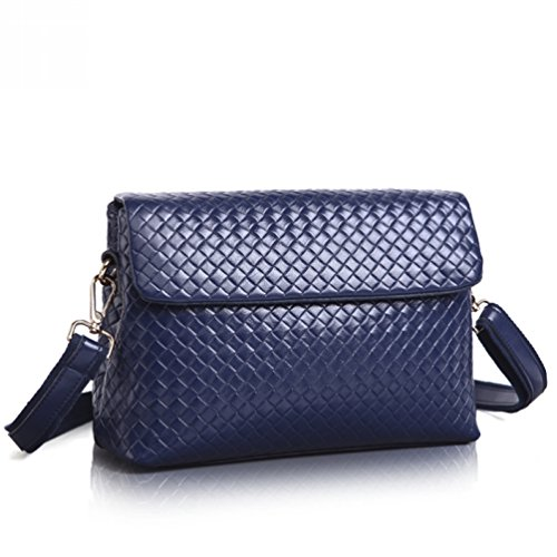 Choco Mocha 2016 New Fashion Women Leather Shoulder Bag Handbag Purse Hobo Cross Body Messenger Bag Simple Style Collection Satchel With Chain Blue Gsdl1510-bu