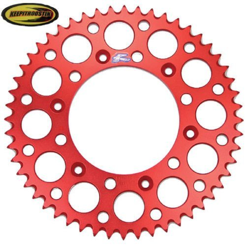 (Renthal Rear Wheel Sprocket Red 52T with Keepitroostin Sticker Fits Honda Cr125 Cr250 CR500 Crf250 Crf450 1987-2014)