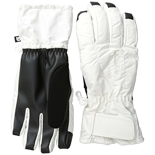 Burton Women's Insulated, Warm, and Waterproof Profile Under Gloves with Touchscreen, Stout White, Medium
