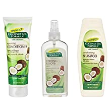 Palmer's Coconut Oil Formula Strong Roots Spray 150ml, Palmer's Coconut Oil Formula Repairing Conditioner 250ml and Palmer's Coconut Oil Formula Shampoo 400ml pack by Palmers