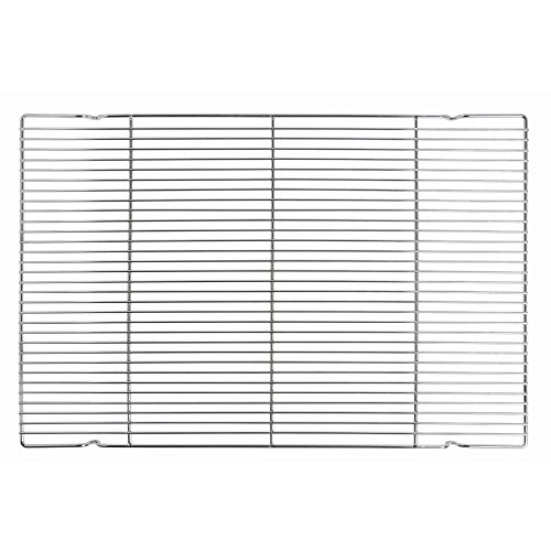 HUBERT Cooling Rack Baking Rack Glazing Rack Chrome Plated Steel - 25'' L x 17'' W by Hubert