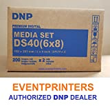TWO BOXES OF DNP DS40 6X8'' PAPER & RIBBON MEDIA KIT FOR DS40 PRINTER (TOTAL OF 800 PRINTS). Comes with FREE SAMPLES of our best selling PHOTO FOLDERS ( EVENTPRINTERS BRAND ).