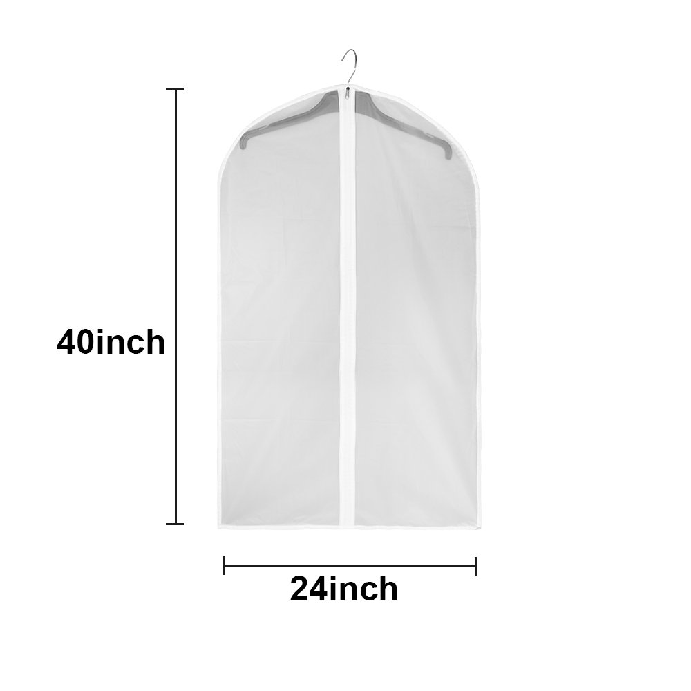 KOBWA Water Repellent Mildew Resistant Fabric Shower Curtain Liner With Mesh PocketsHanging Bathroom
