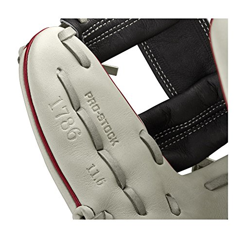 Wilson 2018 A2000 1786 Ss Infield Gloves - Right Hand Throw Brick Redblackgrey, 11.5""