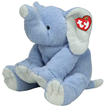 TY elefante de peluche Winks The Elephant Azul