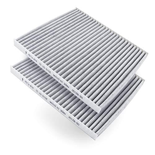 AmazonBasics DS – 8210C-2 Luchtfilter, 22.61 x 20.19 x 1.7 cm, Grijs, 2 stuks