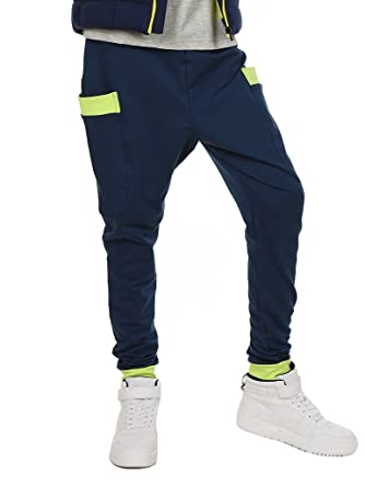 d1edaf5797c2d AlexFashion - Pantalon - Baggy - Garçon bleu bleu 152 cm: Amazon.fr ...