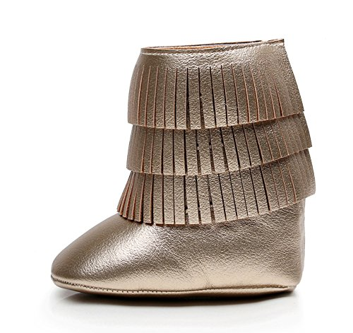 Leap Frog Baby Girl s Quasten knöchelhoher Stiefel Crib Shoes Gold