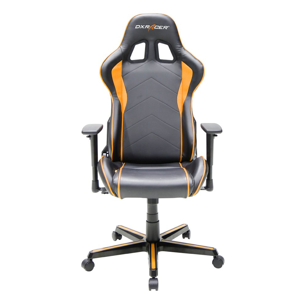 DXRacer Formula Series DOH/FH08/NO Newedge Edition Racing Bucket Seat Office Chair Gaming Chair Ergonomic Computer Chair (Black/Orange) with Pillows