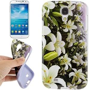Calla Pattern TPU Case Funda Carcasa para Samsung Galaxy S4 i9500 /