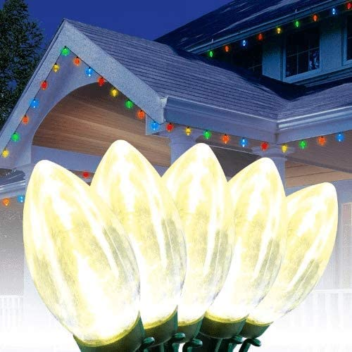 Ultra Bright LED Warm White Christmas Lights, 25 Count – C9