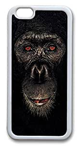 ICORER Favorite iPhone 6 Case, Gorilla Face TPU Case Cover for Apple iPhone 6 - White