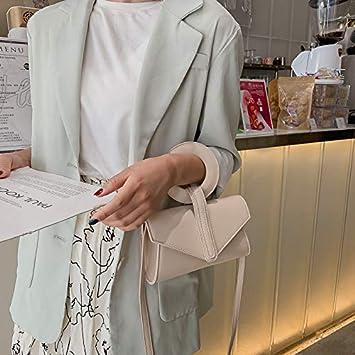 BAOBAOTIAN Casual Fashion Small Bag Female New Korean Version of The Texture Portable Small Square Bag Retro Shoulder Messenger Bag