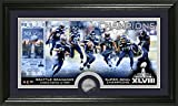"NFL Seattle Seahawks Super Bowl 48 Champions Minted Panoramic Photo Minted Coin, 21"" x 14"" x 3"", Black"