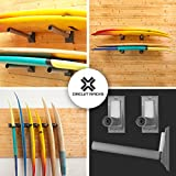 Circuit Racks Heavy duty universal fit wall storage racks, for vertical or horizontal mounting, fully adjustable for any sport, easy to install - 16 inches long