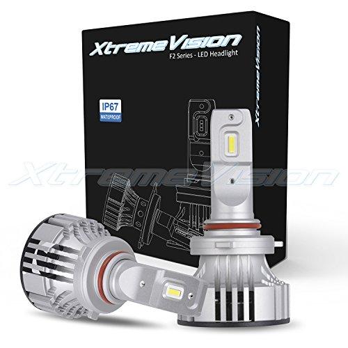 (XtremeVision F2 36W 8,000LM LED Bulb - 9005 LED Headlight Kit - 6500K CREE LED - 2019)