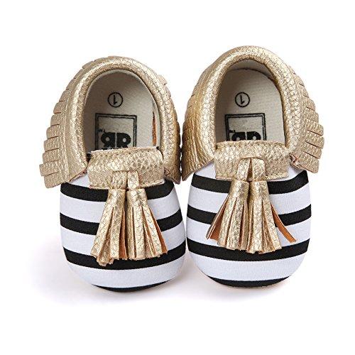 Neband Infant Baby Girls Boys Premium Soft Sole Moccasins Tassels Prewalker Toddler Shoes -