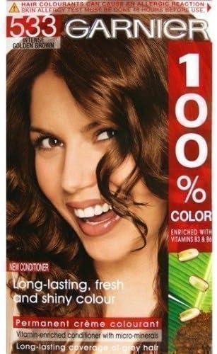 Garnier Color de Cabello Tinte Permanente 100 % Color Marrón ...