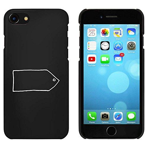 Noir 'Étiquette de Cadeau Vide' étui / housse pour iPhone 7 (MC00068127)