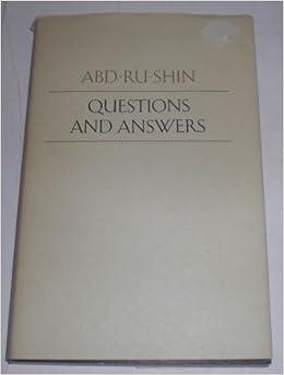 Questions And Answers 1924 1937 Abd Ru Shin Amazon Books