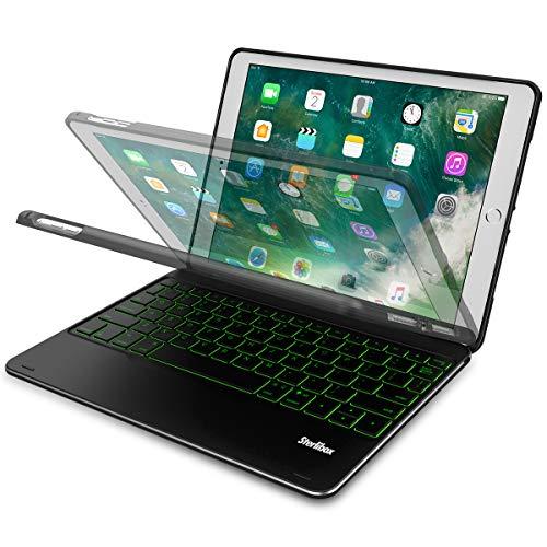 iPad Keyboard Case for The 2018 iPad (6th Gen), 2017 iPad (5th Gen), iPad Pro 9.7, iPad Air 1 - Auto Sleep/Wake - Detachable & Quiet - 7 Color Backlit - Wireless/Bluetooth - iPad Case with Keyboard