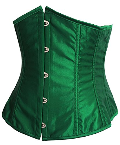 [sexalisa Womens Faux Leather Sexy Underbust Waist Training Corset 2686A-Green-XL] (Sexy Halloween Costumes Canada)