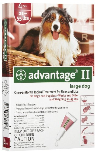 Advantage for Dogs 21-55 lbs, 4 - 2.5 ml tubes