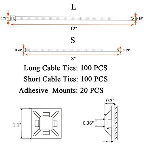 honyear-200-pack-strong-large-812-inch-cable-ties-black-zip-ties-durableself-locking-heavy-duty-outdoor-uv-resistant-nylon-black-tie