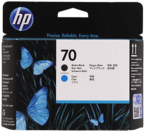 606 Matte - HP 70 (C9404A) Matte Black/Cyan Printhead