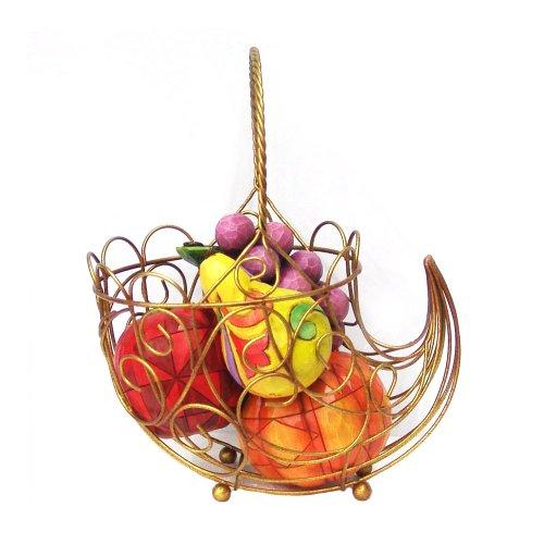 (Jim Shore Heartwood Creek from Enesco Set of 6 Cornucopia with Fruits Figurine 9 IN)