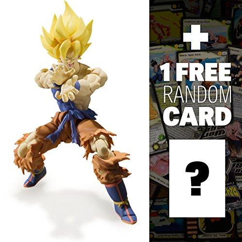 Super Saiyan Son Goku (Super Warrior Awakening): Dragonball Z x Tamashii Nations S.H. Figuarts Action Figure + 1 FREE Official DragonBall Trading Card Bundle