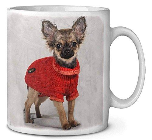 Chihuahua Dans Le Café Robe / Tasse De Thé Bas De Noël Idée Cadeau De Remplissage
