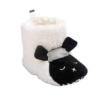 DDLBiz Baby Boy Girl Lovely Sheep Soft Sole Snow Boots Warm Boots